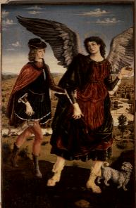 Tobias and the Archangel Raphael | Antonio Pollaiolo | oil painting