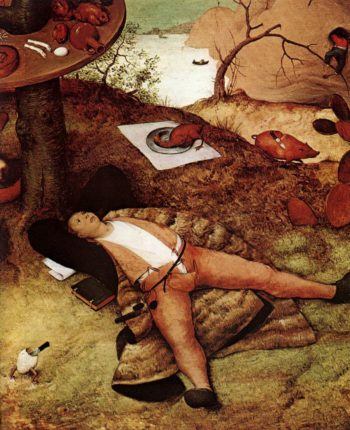 The Land of Cockaigne (detail) 1567 | Pieter The Elder Bruegel | oil painting