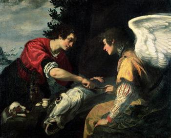 Tobias and the Archangel Raphael | Jacopo Vignali | oil painting