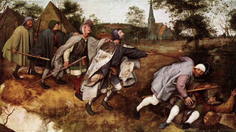 The Parable of the Blind Leading the Blind 1568 | Pieter The Elder Bruegel | oil painting