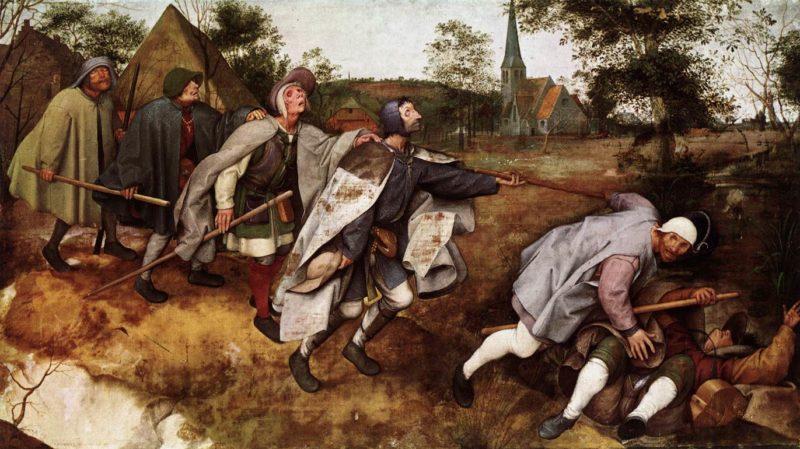 The Parable of the Blind Leading the Blind 1568 | Pieter The Elder Bruegel | oil painting