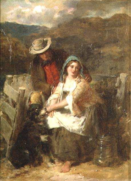 Too Young to be Married 1869 | Thomas Faed | oil painting