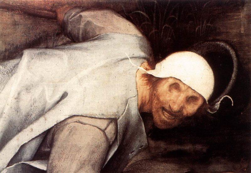 The Parable of the Blind Leading the Blind (detail) 1568   Pieter The Elder Bruegel   oil painting