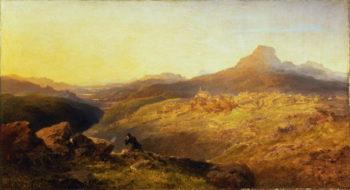 Town and Vale of Festiniog 1864 | Edmund John Niemann | oil painting