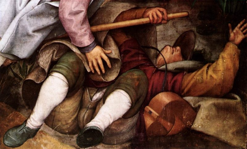 The Parable of the Blind Leading the Blind (detail) 1568 | Pieter The Elder Bruegel | oil painting