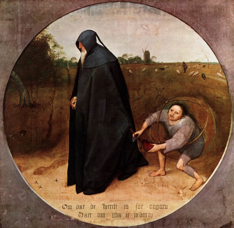 The Misanthrope 1568 | Pieter The Elder Bruegel | oil painting