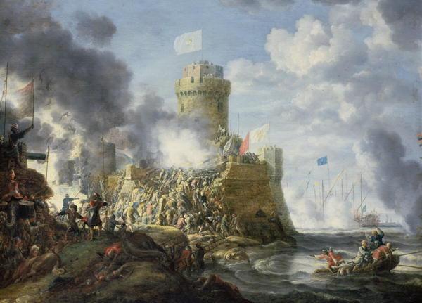 Turks Storming a Seaport 1641 | Bonaventura Peeters | oil painting