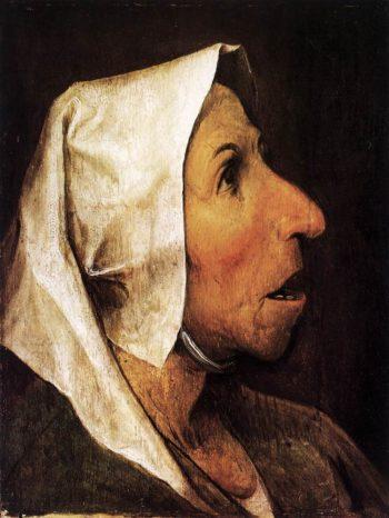 Portrait of an Old Woman 1564 | Pieter The Elder Bruegel | oil painting