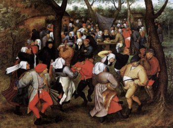 Peasant Wedding Dance 1607 | Pieter The Younger Brueghel | oil painting