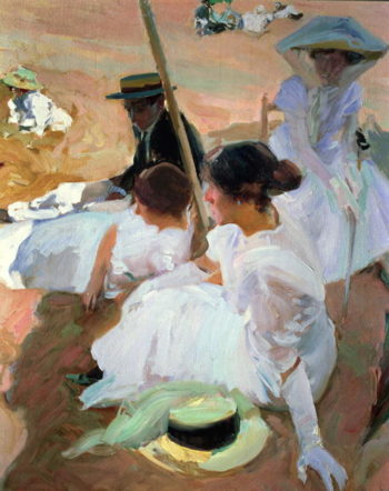 Under the Paraso Zarauz 1910 | Joaquin Sorolla y Bastida | oil painting