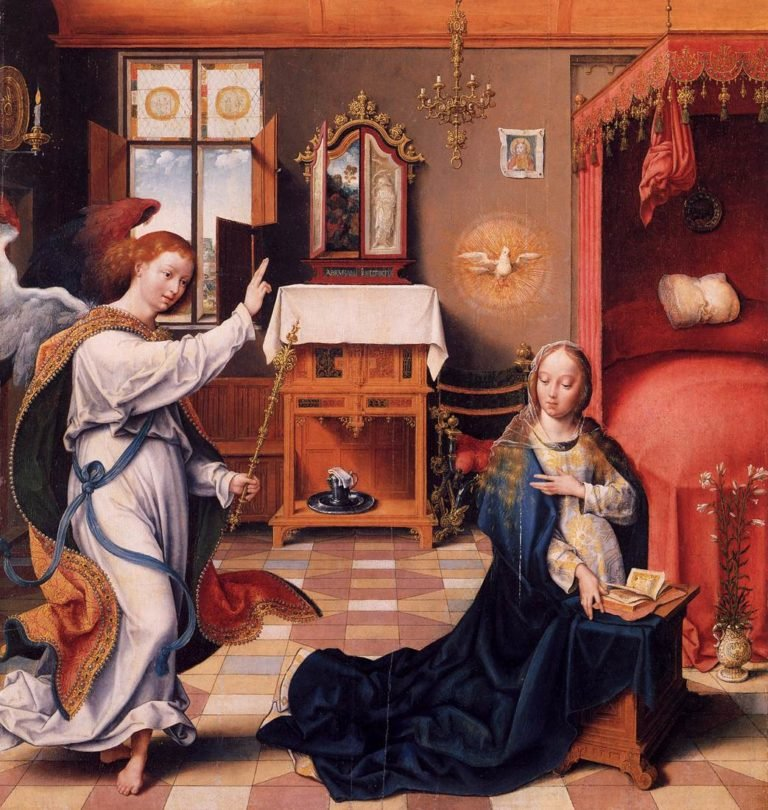 The Annunciation 1525 | Joos Van Cleve | oil painting