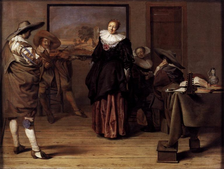 The Dancing Lesson 1627 | Pieter Codde | oil painting