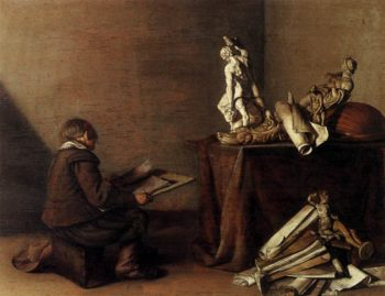 The Young Draughtsman 1630 | Pieter Codde | oil painting