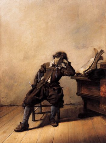 Young Scholar in His Study: Melancholy 1630 | Pieter Codde | oil painting