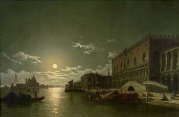 Venice by Moonlight | Henry Pether | oil painting