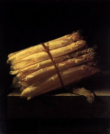 Still Life with Asparagus 1697 | Adriaen Coorte | oil painting