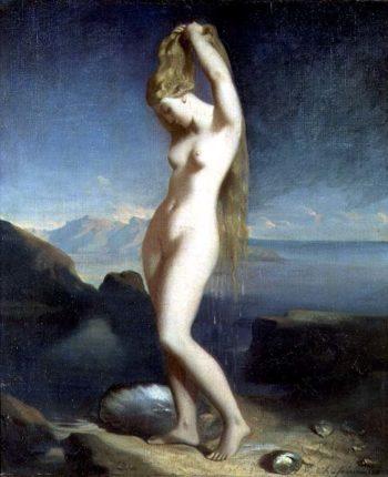 Venus Anadyomene or Venus of the Sea 1838   Theodore Chasseriau   oil painting