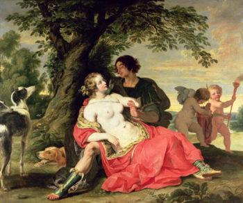 Venus and Adonis 1620 | A Janssens | oil painting