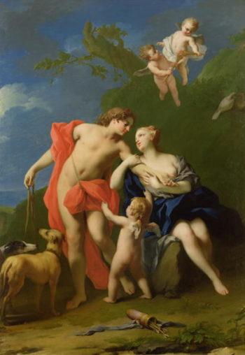 Venus and Adonis | Jacopo Amigon | oil painting
