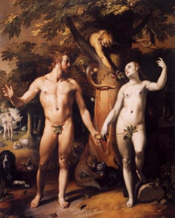 The Fall of Man 1592 | Cornelis Van Haarlem | oil painting