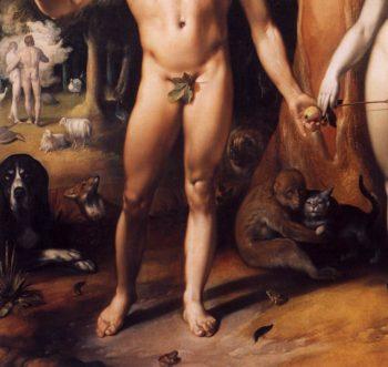 The Fall of Man (detail) 1592 | Cornelis Van Haarlem | oil painting