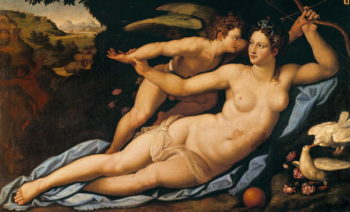 Venus and Cupid | Alessandro Allori | oil painting