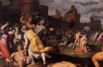 Massacre of the Innocents (detail) 1590 | Cornelis Van Haarlem | oil painting