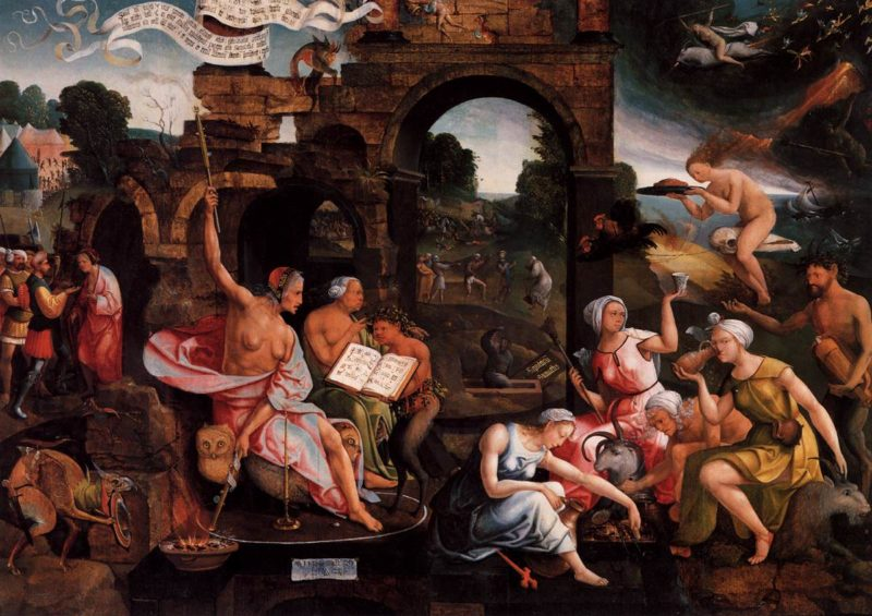 Saul and the Witch of Endor 1526   Jacob Cornelisz Van Oostsanen   oil painting