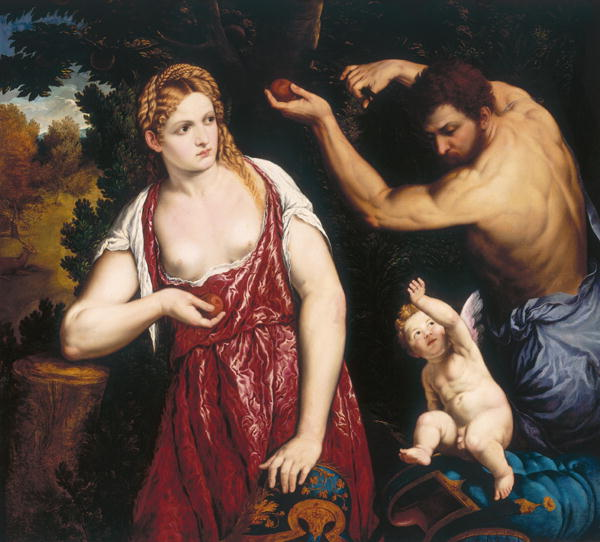 Venus and Mars with Cupid | Paris Bordone | oil painting