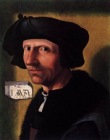 Self Portrait 1533 | Jacob Cornelisz Van Oostsanen | oil painting