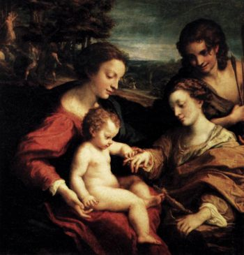 The Mystic Marriage of St Catherine 1526-27 | Correggio | oil painting