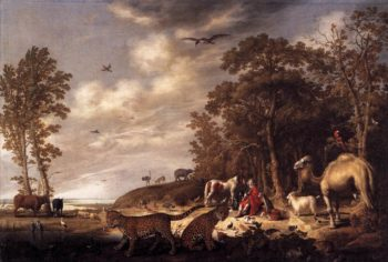 Orpheus with Animals in a Landscape 1640 | Aelbert Cuyp | oil painting