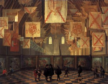 The Great Hall of the Binnenhof in The Hague 1651 | Dirck Van Delen | oil painting