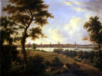 View of Lubeck 1869 | Andreas Achenbach | oil painting