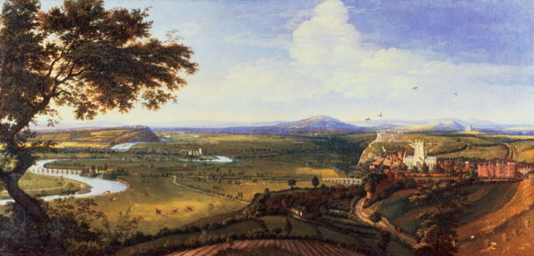 View of Nottingham from the East   Jan Siberechts   oil painting