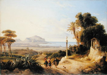 View of Palermo 1840 | Consalvo Carelli | oil painting