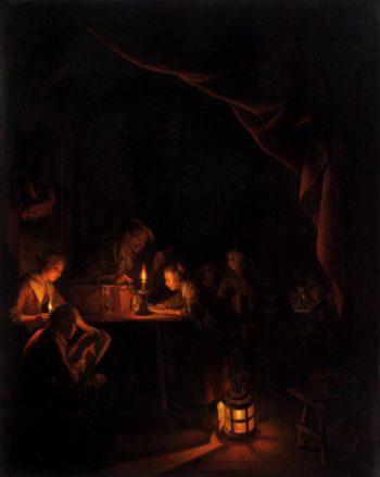 The Night School 1660 | Gerrit Dou | oil painting
