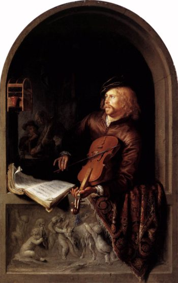 Violon Player 1653 | Gerrit Dou | oil painting