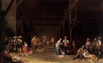 Dividing the Spoils 1635 | Jacob Duck | oil painting