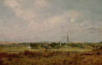 View of Salisbury | John Constable | oil painting