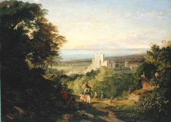 View of Terracina and Monte Circeo 1833 | Friedrich Nerly | oil painting
