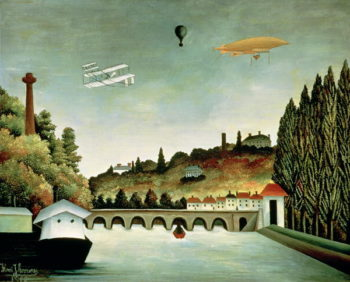 View of the Bridge at Sevres and the Hills at Clamart St Cloud and Bellevue 1908 | Henri J F Rousseau | oil painting