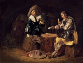 Card Playing Soldiers 1625-30 | Willem Cornelisz Duyster | oil painting