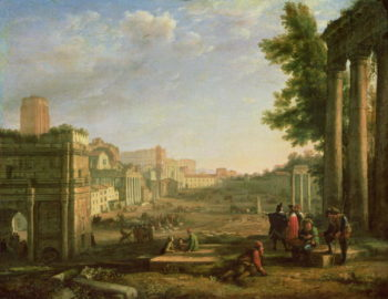 View of the Campo Vaccino Rome 1636 | Claude Lorrain | oil painting