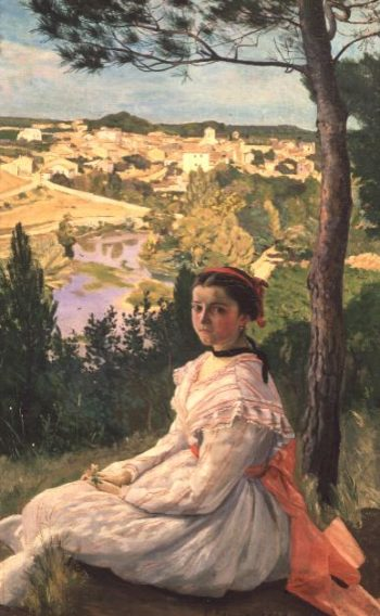 View of the village Castelnau 1868 | Jean Frederic Bazille | oil painting