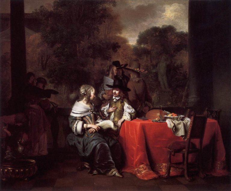 Party on a Terrace 1652 | Gerbrand Van Den Eeckhout | oil painting