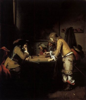 Tric Trac Players 1653 | Gerbrand Van Den Eeckhout | oil painting