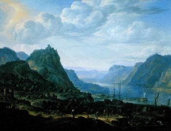 View on the Rhine 1672 | Herman the Younger Saftleven | oil painting