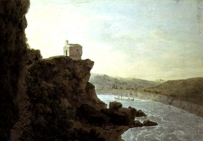 View on the Tiber near Ponte Molle three miles from Rome 1780 | John Robert Cozens | oil painting