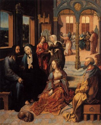 Christ in the House of Martha and Mary 1515 | Cornelis Engebrechtsz | oil painting